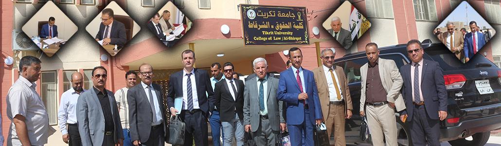 اللجنة الوزارية المكلفة بإستحداث كلية الحقوق الشرقاط تزور موقع الكلية.